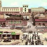 palazzo di città visto dal lido - anni 50