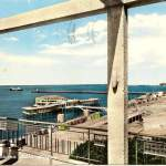 panorama della spiaggia - anni 50
